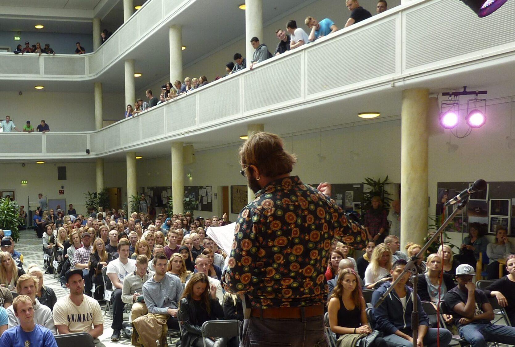 Forfatterarrangement med Jens Blendstrup